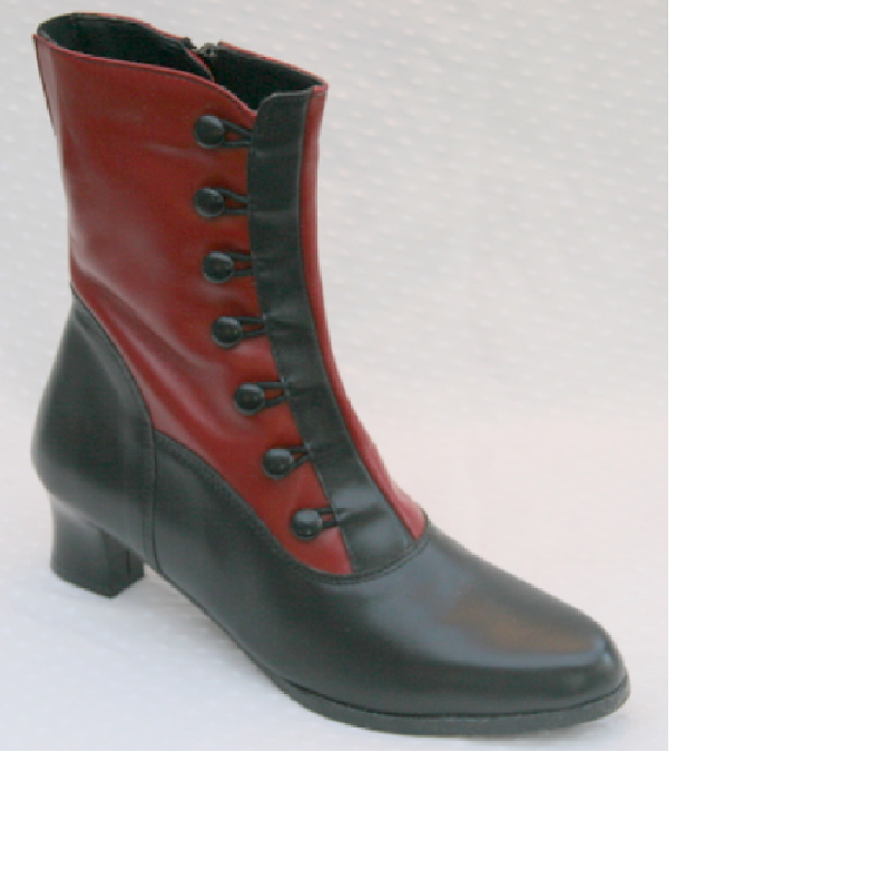 Clare Black/Red Leather