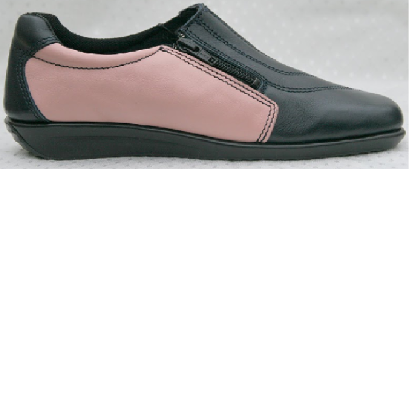 flexishoe navy blue- pink